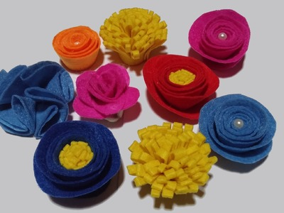 Flores de feltro - DIY - Felt flowers