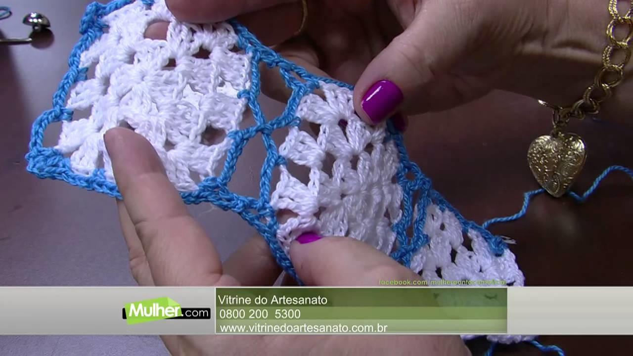 Mulher.com - 29.10.2015 - Colete em crochê - Vitória Quintal PT2