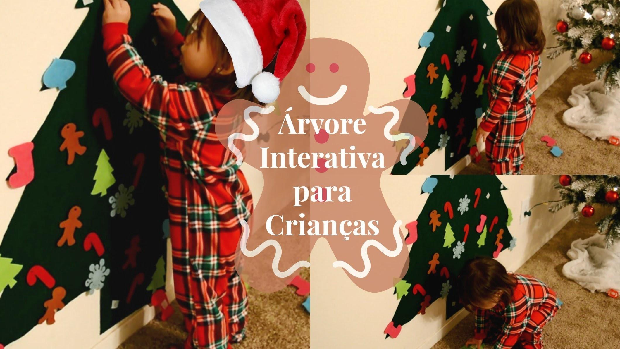 DIY - Árvore de Natal Interativa para Crianças {Fácil, Baratinha e Muito legal} ♡
