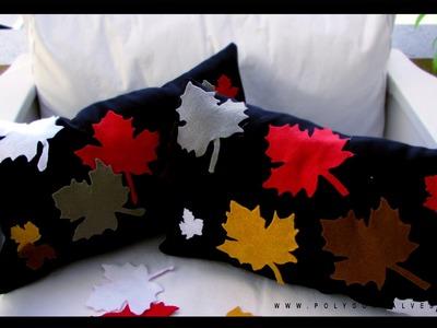DIY Faça você mesma Almofada elegante folhas | Poly Gonçalves