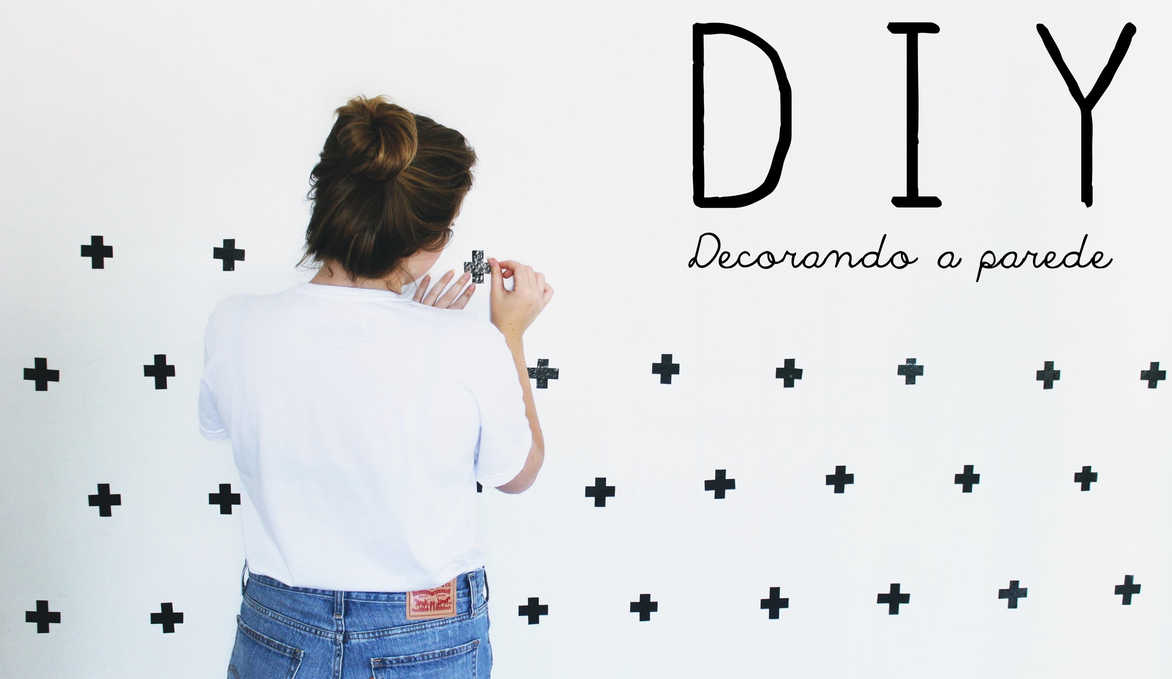 DIY: Parede Decorada Com Fita Isolante +
