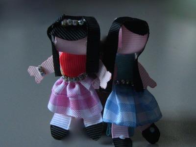 Fivela com boneca de fitas GORGORAO NAJAR  Passo a Passo