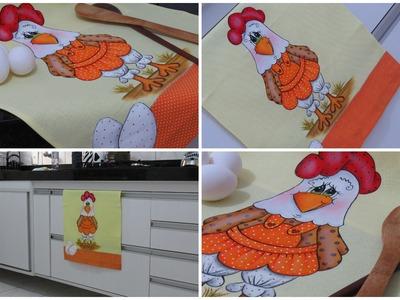 Pintura em tecido - Galinha FIFI - parte 1