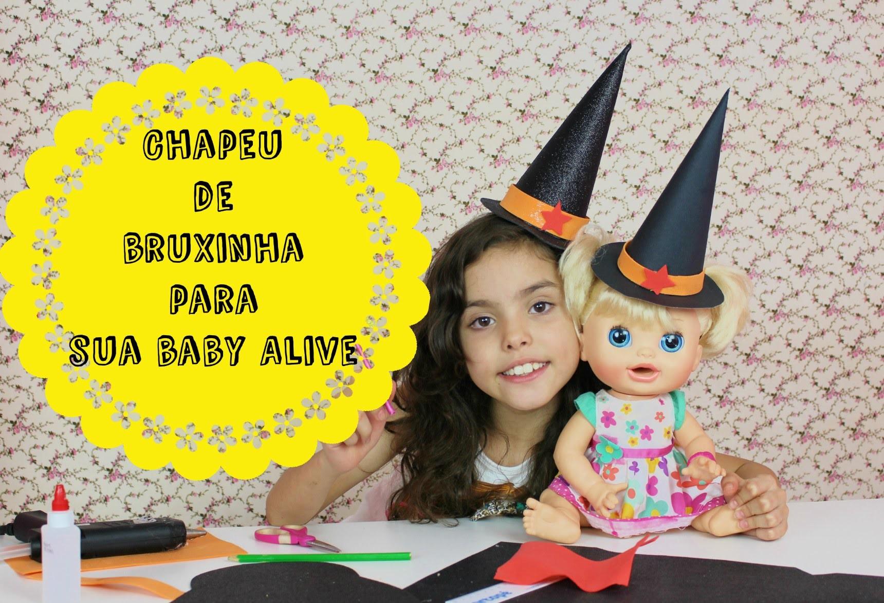 Como fazer um Chapéu de bruxa - Especial Halloween.  How to Make a Witch Hat