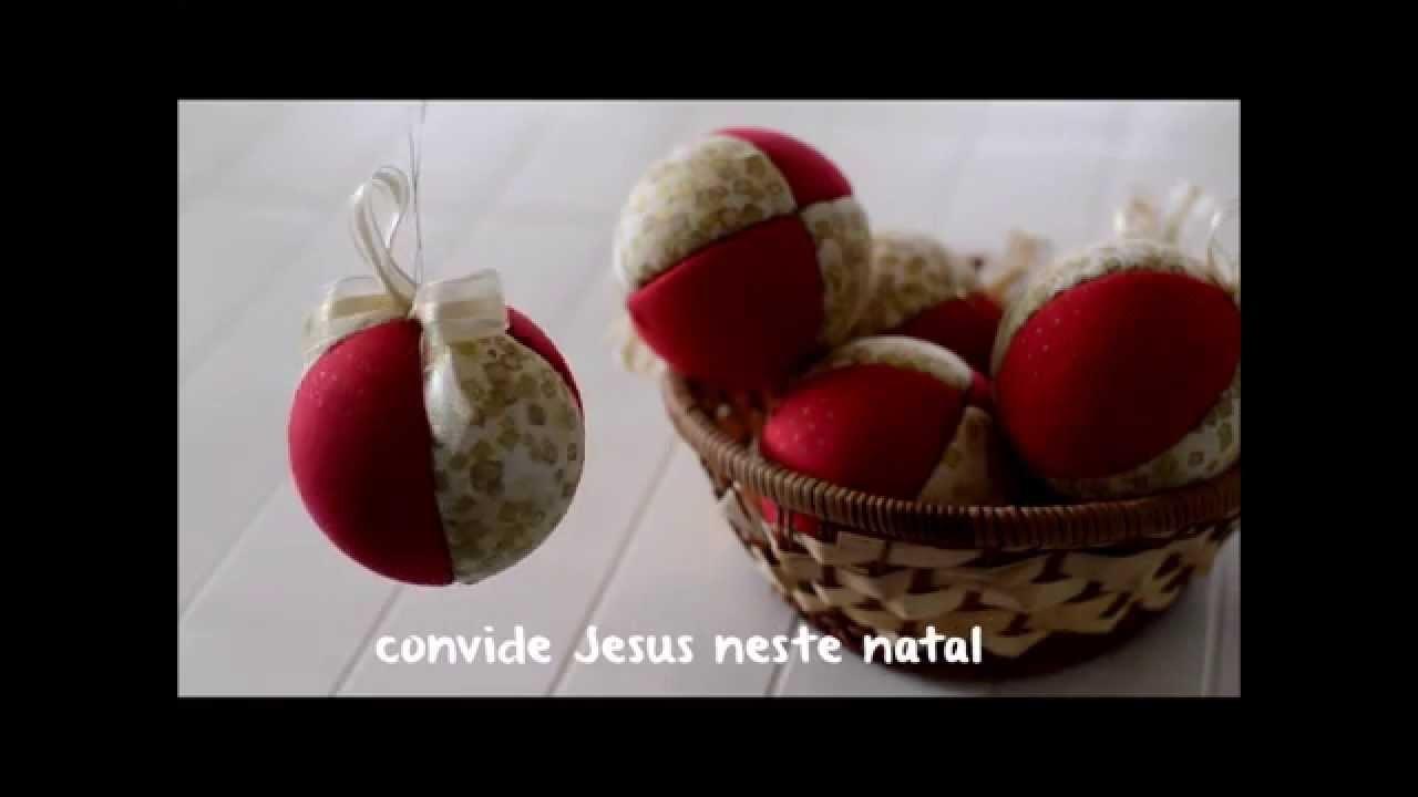 DIY - Bolas de Natal em Patchwork - aprenda a fazer em 3 minutos!