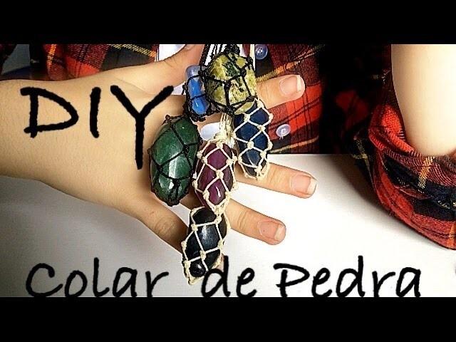 DIY | Como Fazer Colar de Pedra Castroada