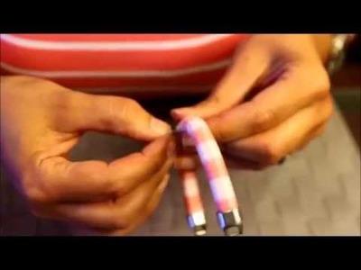 DIY - Pulseira de fio renda e couro
