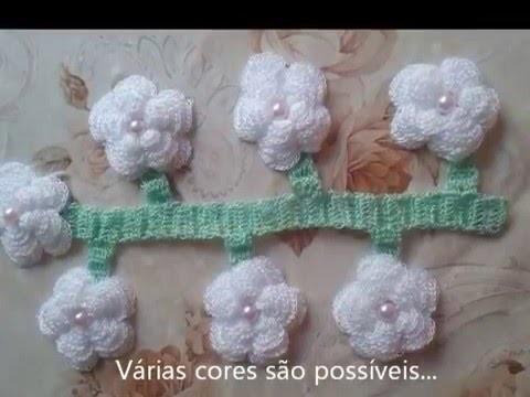 FLOR DE CROCHÊ - PASSO A PASSO (3)  crochet flower