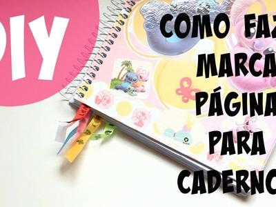 Inventando Moda - DIY - Como fazer Marca Página para Caderno - por Prih Gomes