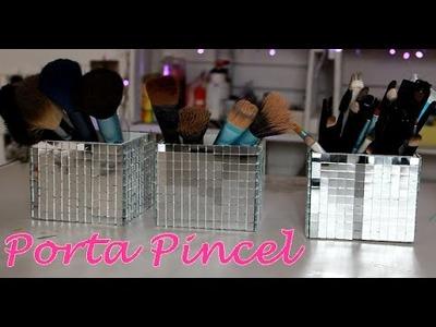 Porta Pincel - Caixinha de espelho - DIY | POR CAROL GOMES