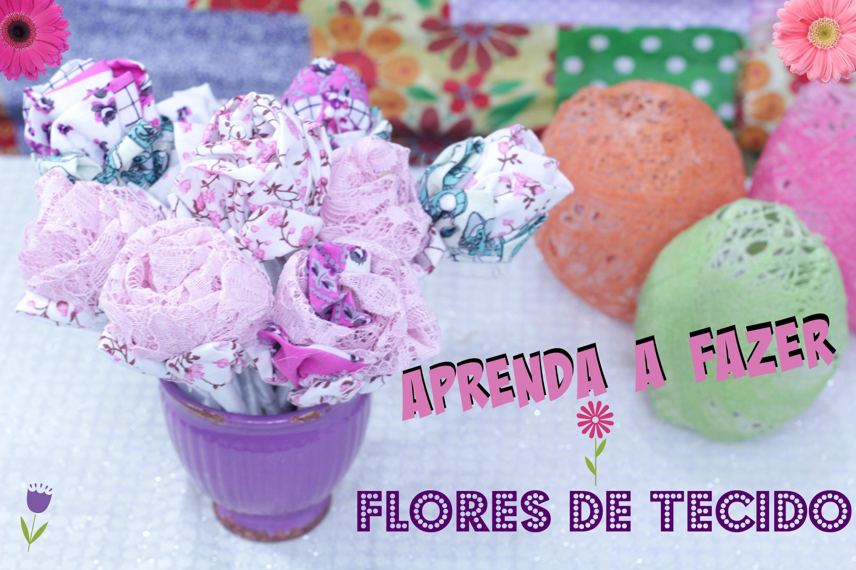 Como fazer flor de tecido - diy
