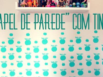 DIY com pouco $: Como fazer ''papel de parede'' com tinta + dicas de pintura #ysadecor