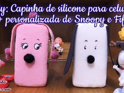 DIY: como fazer capinha de silicone para celular e tablet | Snoopy e Fifi (Peanuts, O FIlme)