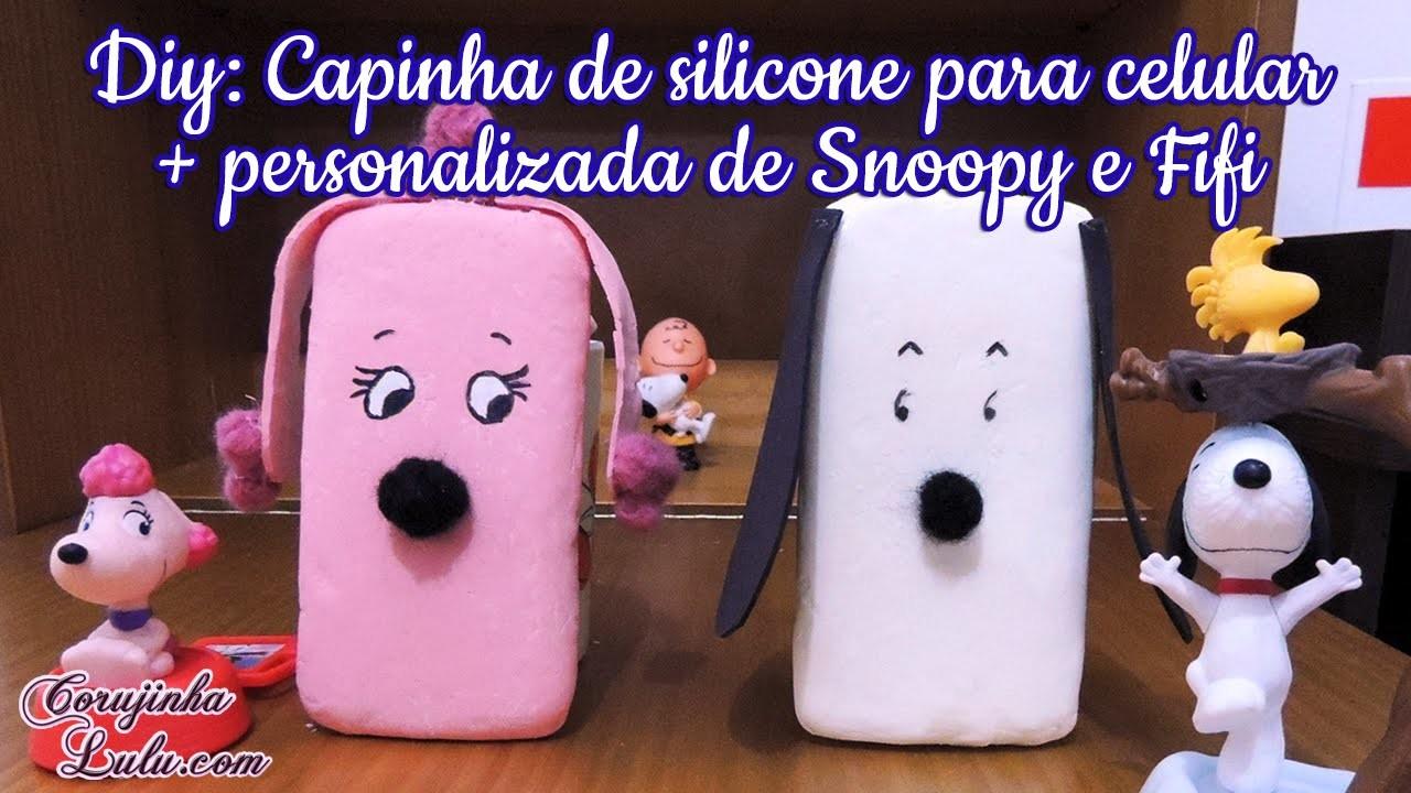 DIY: como fazer capinha de silicone para celular e tablet   Snoopy e Fifi (Peanuts, O FIlme)