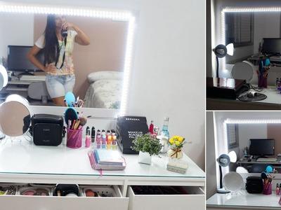 DIY Faça Você Mesma | Espelho Camarim com Led - Por Jéssica Freitas