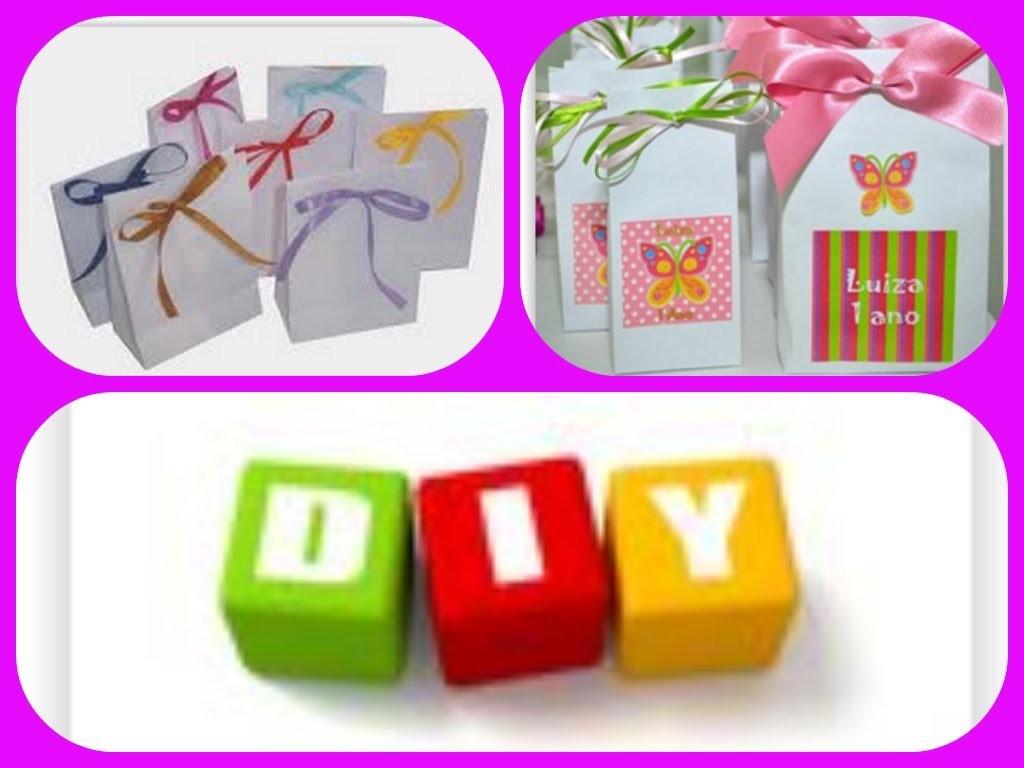 Diy: Sacolinha de papel para presentes ou lembrancinhas - Fácil, rápido & barato