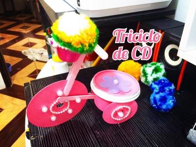 DIY | Triciclo de CD com Materiais Recicláveis