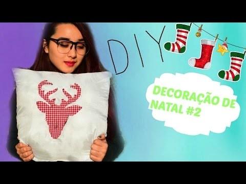 ✂️️DIY- Almofada Alce ( decoração de natal #2 )
