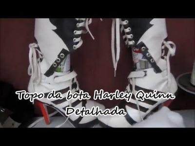 DIY - Bota Harley Quinn DETALHAMENTO DO TOPO