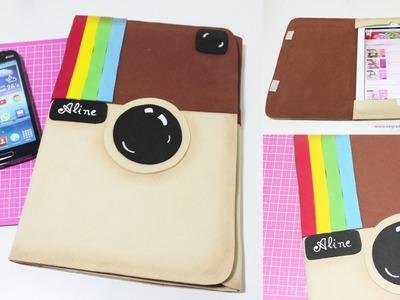 DIY -  Como Fazer Capa para Ipad ou Tablet com logo do Instagram