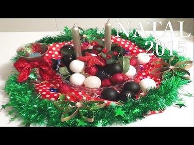 DIY faça voçe mesmo uma decoração  centro de mesa de natal nr 10