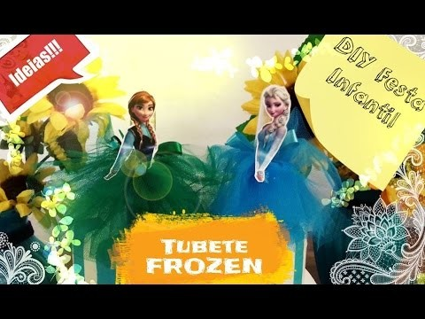 DIY FROZEN. LembrancinhaTubetes ideias para festa Frozen. Frozen Inspired Decoration