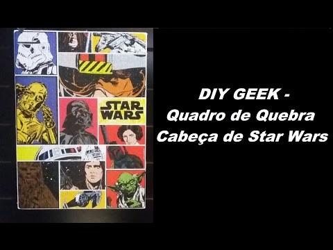 DIY Geek - Quadro de Quebra Cabeça Star Wars