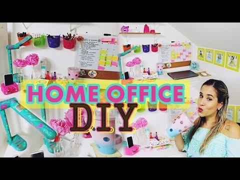 DIY HOME OFFICE DECOR - DECORE SUA CASA GASTANDO POUCO | POR CAROL GOMES