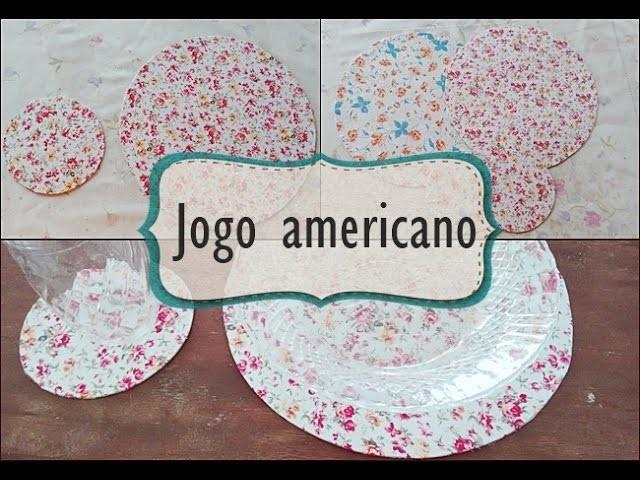 DIY- Jogo americano simples