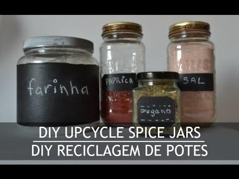 DIY UPCYCLE SPICE JAR :: TUTORIAL RECICLAGEM DE POTES