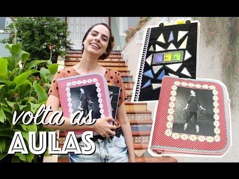 DIY: VOLTA ÀS AULAS  FICHÁRIO.CADERNO  (PARTE 1) - Paula Stephânia