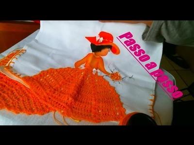 Como fazer saia de croche para boneca pano de prato How to paint a dolls