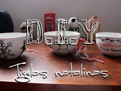 D.I.Y: Porcelana decorada - Tigela natalina