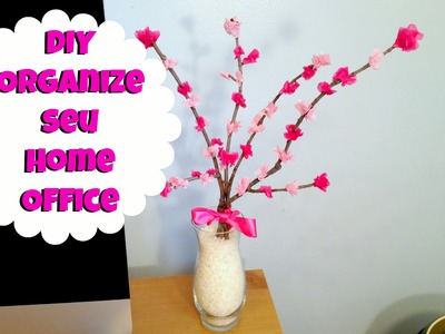 DIY: Árvore com Flores de papel - Decore e Organize seu Home Office