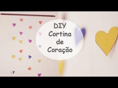 DIY:Decore o quarto com cortina de corações