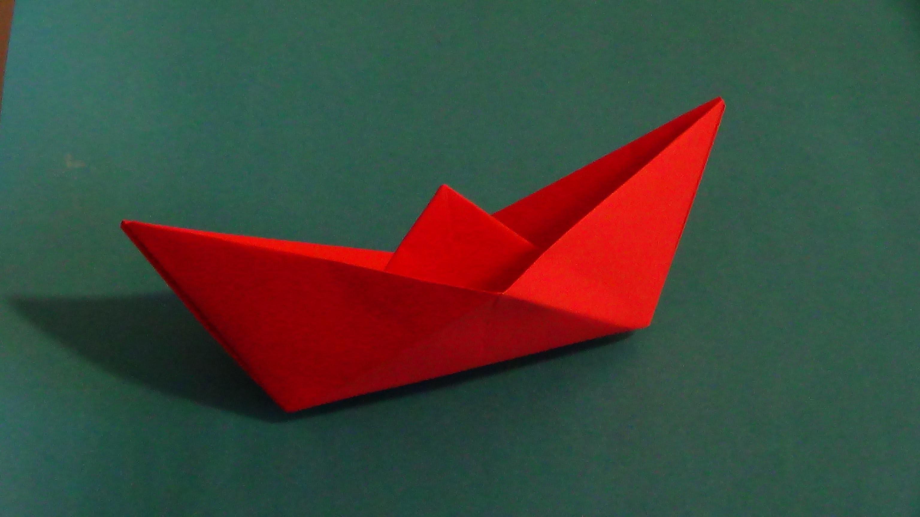 Saiba como fazer um barco origami - know how to make origami boat