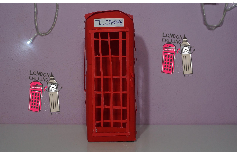 DIY: Cabine Telefônica de Londres feita com caixa de suco