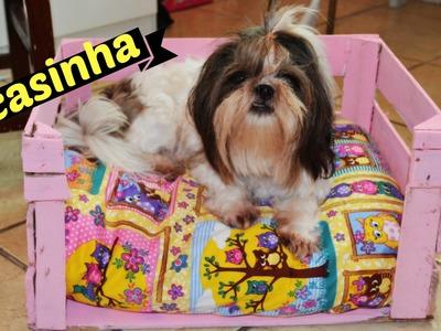 DIY Casinha para Cachorro com caixote de feira