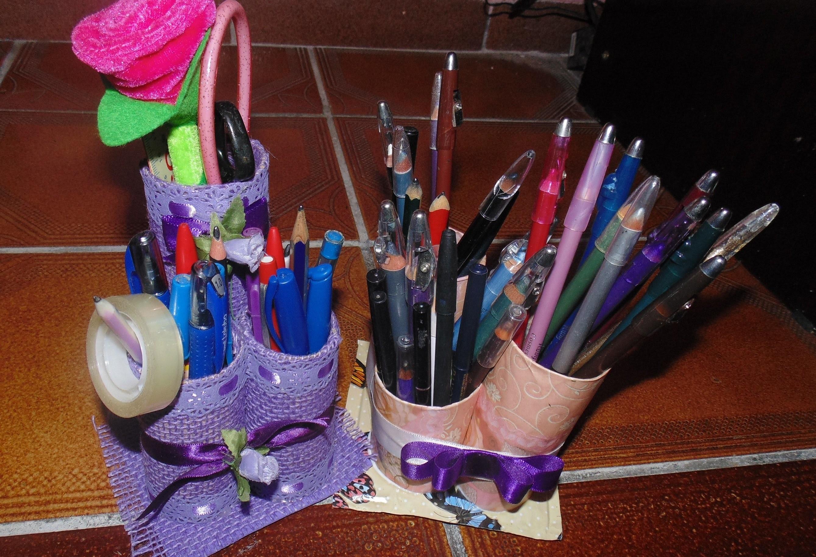 DIY Faça você mesma: organizador de mesa porta lápis por Lyly Martins