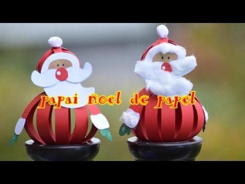 Papai Noel de papel - Paper Santa