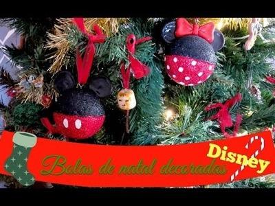 BOLA DE NATAL DISNEY DIY (Disney's Christmas ornaments) | #POCFazendoArte Ep. 40