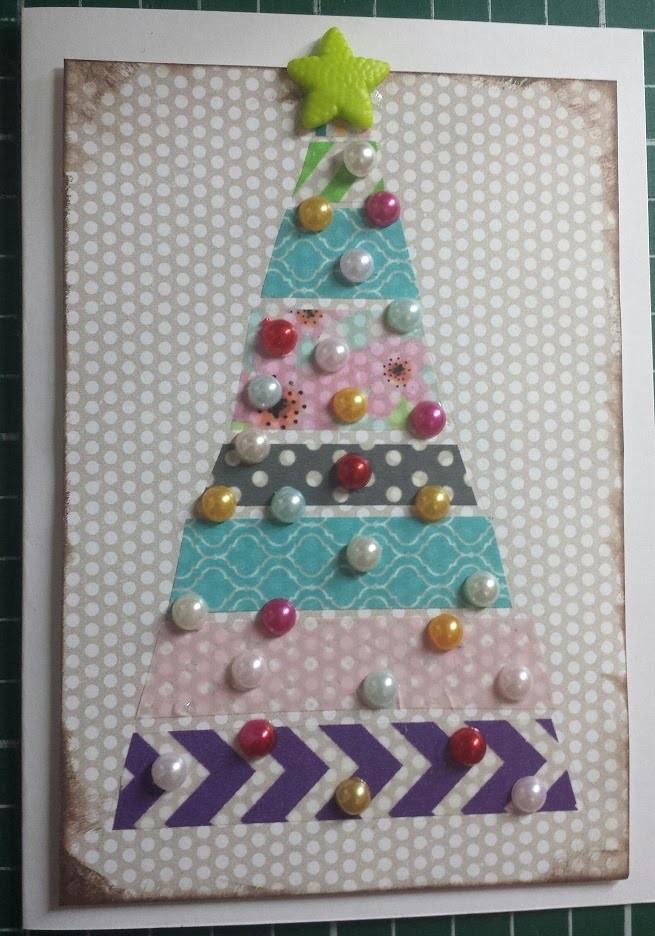 Cartão de Natal - DIY Washi card