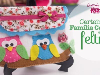DIY - Carteira família coruja em feltro (Vanessa Iaquinto)