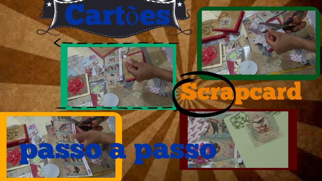 DIY cartoes passo a passo scrap card