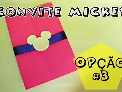 DIY FESTA DO MICKEY - COMO FAZER CONVITE DO MICKEY - FAÇA SUA FESTA | POR CAROL GOMES