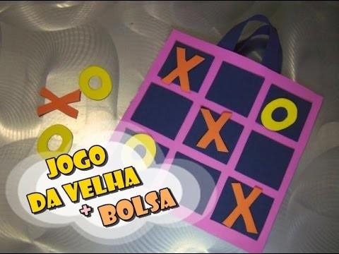 DIY.: Jogo da Velha + Bolsa
