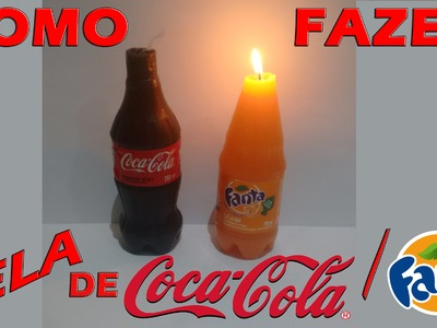 DIY: VELA DE COCA COLA. FANTA