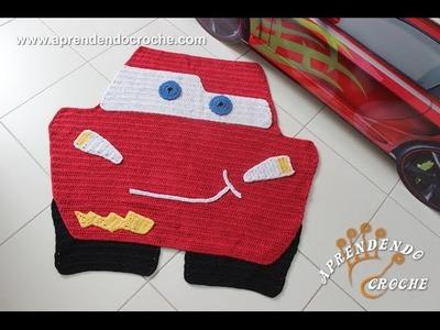 Tapete de Crochê Infantil Carros - Relâmpago MacQueen (Lightning McQueen)