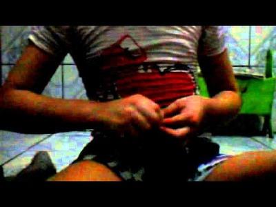 Tutorial:prender sua pulseira de elásticos rainbow loom