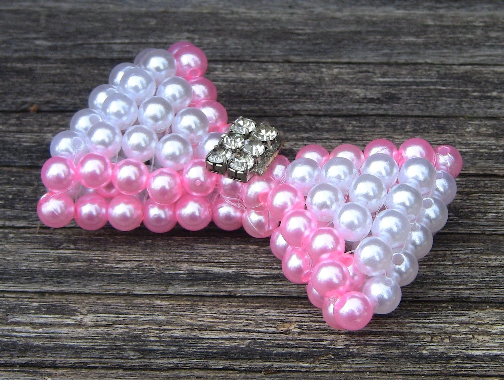 2° PARTE-Laço de  perolas com duas cores Passo a Passo -loop beads